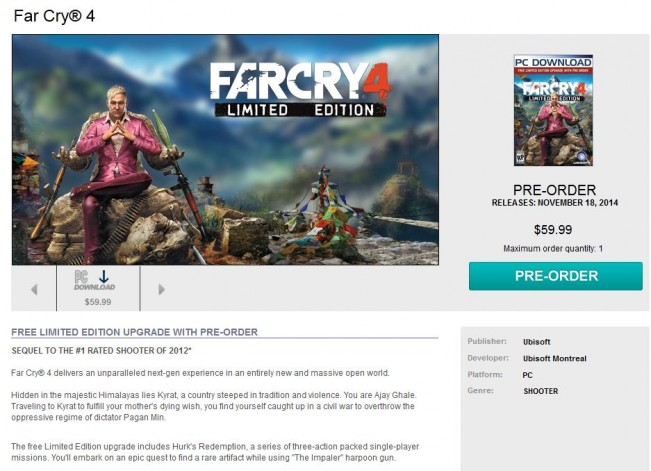 Far Cry 4 story details accidentally unearthed