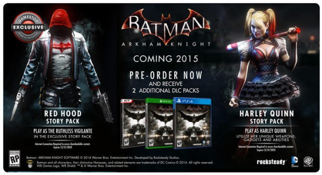 Play as Red Hood with Batman: Arkham Knight's Gamestop pre-order bonus