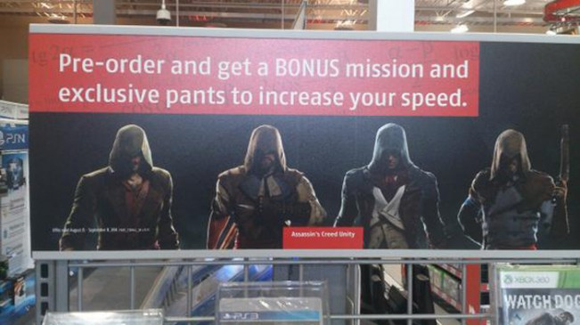 Assassin's Creed: Unity's pre-order exclusive is pants