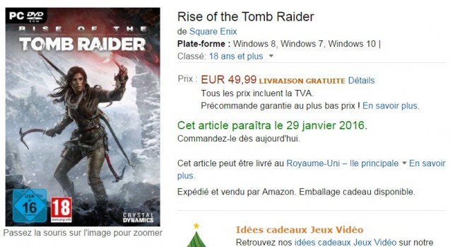 Rise of the Tomb Raider may come to PC January 2016