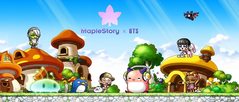 Global Superstars BTS team up with MapleStory - News