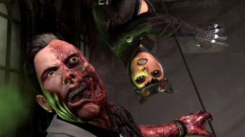 Batman: Arkham City's Two-Face Gets His Turn In The ... Joker Face Upside Down