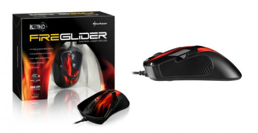 Sharkoon Rush Fireglider gaming mouse
